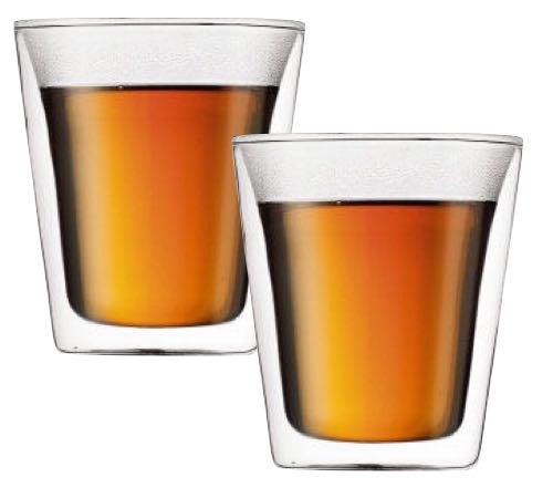 484a574c409 2x20cl double wall glasses - Canteen range by Bodum