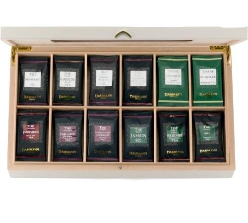 Tea Gift Box Palace 72 Cristal Sachets In 12 Tea Varieties Dammann Frères