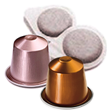 Coffee capsules and pods
