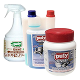 Cleaning products for professional equipment