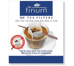 Finum biodegradable Tea filters x 100 + 1 closing stick