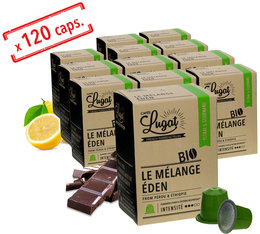 Pack Capsules Cafés Lugat Le Mélange Eden Bio x120