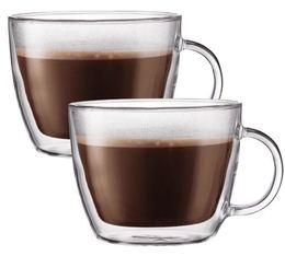 2 verres Café latte 45cl (avec anse) Bodum Bistro