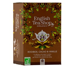 Rooibos Cacao Vanille bio - 20 sachets plats - English Tea Shop