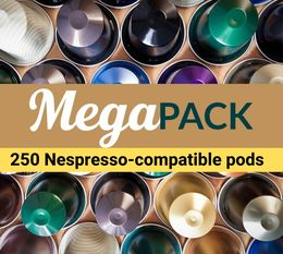 Mega Pack for money savers - 250 x Nespresso-compatible pods