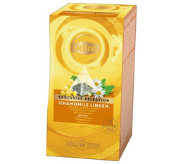 Lipton Chamomile Linden infusion - 25 pyramid bags - Exclusive Selection Range