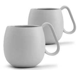Lot de 2 tasses en porcelaine Light Grey Nina 28cl - Viva Scandinavia