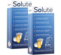 Solute 2 x 8 Capsules de nettoyage pour machine Nespresso®