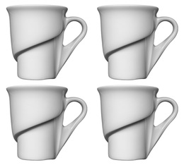 Lot de 4 tasses à expresso 9cl - Delissea