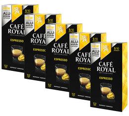 Café Royal 'Espresso' aluminium capsules for Nespresso x50