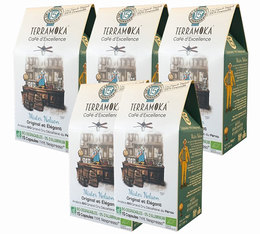 Terramoka biodegradable decaffeinated coffee capsules