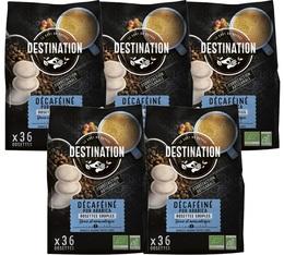Pack Café dosettes souples Bio Décaféiné 5 x 36 - Destination