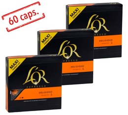 60 capsules compatibles Nespresso® Delizioso - L'Or Espresso