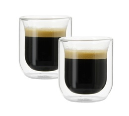 2 double wall glasses 75ml - Judge