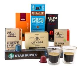 Amour, gloire & capsules - pack cadeau café capsules compatibles Nespresso®