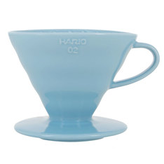 Hario V60 dripper in baby blue ceramic for 1-4 cups