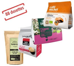 Pack découverte coup de coeur client - dosettes souples compatibles Senseo x 88