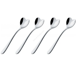 Alessi heart-shaped teaspoons designed by Miriam Mirri x 4