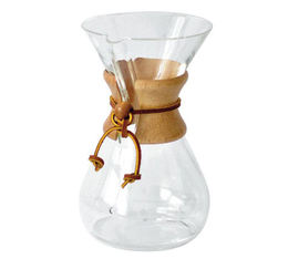 Glass Chemex 6-cup coffee maker