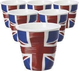 6 Tasses froissées Revol drapeau UK - 8 cl