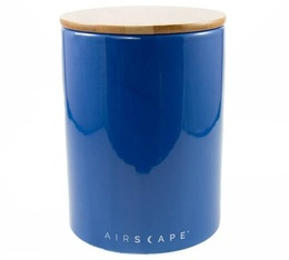 Airscape blue ceramic Food storage container with vacuum seal - 500g