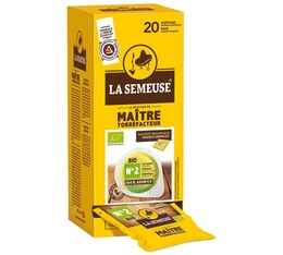 20 dosettes ESE Maître Torrefacteur n°2 bio - La Semeuse