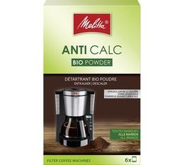 Détartrant Biodégradable Melitta Cafetières filtres poudre (6x20g)