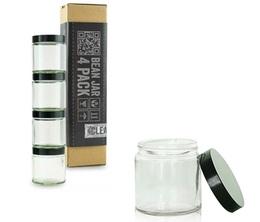 Comandante Bean Jars  - Pack of 4 clear jars