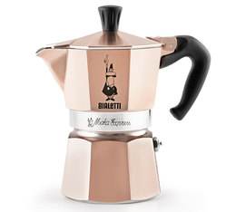 Bialetti Moka Express moka pot in Rose Gold - 6 cups
