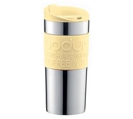 Bodum stainless steel insulated travel mug in Banana - 35cl