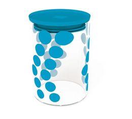 Zak! Designs - DOT DOT glass jar in blue- 900 ml