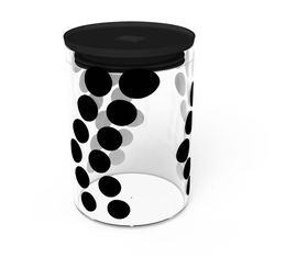 Zak! Designs - DOT DOT glass jar in black - 900 ml