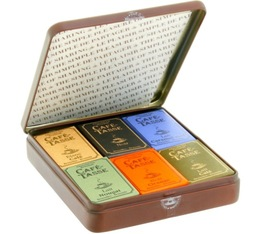 Boite métal 18 mini-tablettes - Café-Tasse