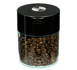 Boite conservatrice avec vide d'air 250gr/0.8L noire et transparente - Coffeevac