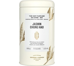 George Cannon Jasmin Chung Hao pure origin organic jasmine green tea - 100g loose leaf in tin