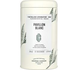 George Cannon 'Pavillon Blanc' organic flavoured white tea - 50g loose leaf in tin