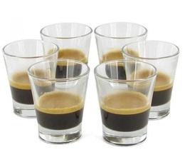 6 Caffeino espresso glasses 85ml - Bormioli Rocco
