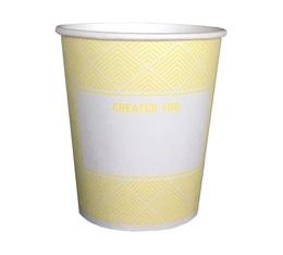 50 Gobelets carton PLA biodégradable Lemon Chevron 15cl