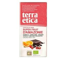 Tablette chocolat Noir 72%  Superfruits d'Amazonie 100g - Café Michel