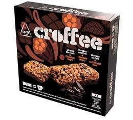 Boîte de 5 barres de céréales Croffee saveur café/chocolat noir - Delta Cafés