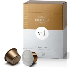 Cafés Richard N°1 coffee capsules x24 - Espresso