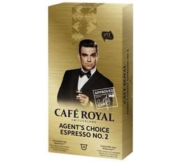 Capsules Café Royal Agent's choice N°2 x 10 pour Nespresso
