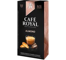 Capsules Café Royal aromatisé amande x 10 pour Nespresso
