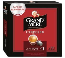 Capsules Grand mère Expresso Classique x 20 capsules compatibles Nespresso