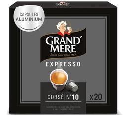 Capsules Grand mère Expresso Corsé x 20 capsules compatibles Nespresso