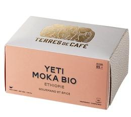 x10 Yeti Moka Bio Ethiopia capsules by Terres de Café for Nespresso