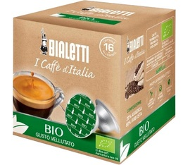 Organic Arabica/Robusta Mokespresso Bialetti capsules x16