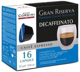 Capsules Gran Riserva Decaffeinato x16 - Caffè Corsini pour Nescafe® Dolce Gusto®