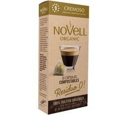 Capsules biodégradables Cremoso Novell Organic x10 compatibles Nespresso