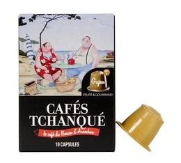x 10 Gujan capsules by Cafés Tchanqué for Nespresso